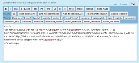 how to get rss feed link in wordpress
